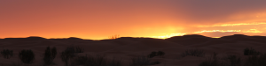 sunset in the Tunisian desert