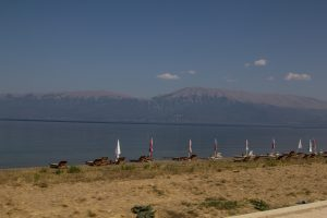 Lake Orid with the Macedonian shoreline in the background