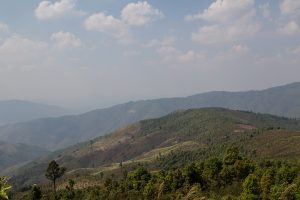 This scene is quite typical for the region, one mountain is crouched to the other.