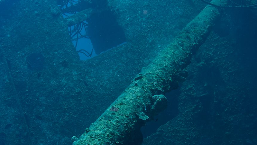 Wreck diving in the Caribbean: The Hilma Hooker